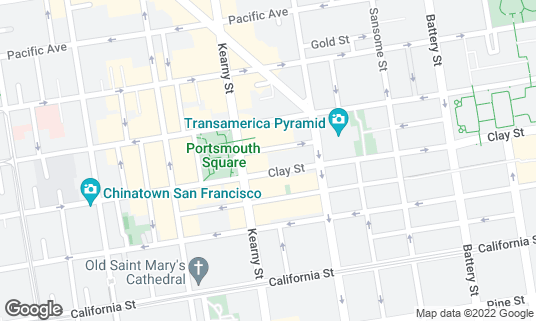 Map of Alfred's Steakhouse at 659 Merchant St San Francisco, CA