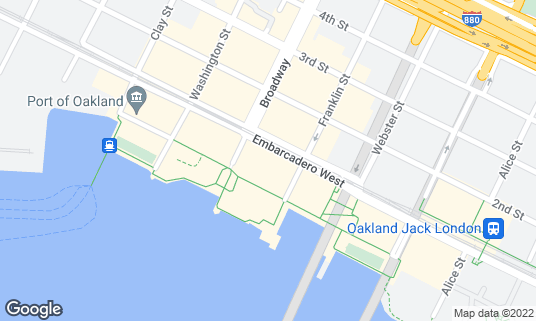 Map of plank at 98 Broadway Oakland, CA