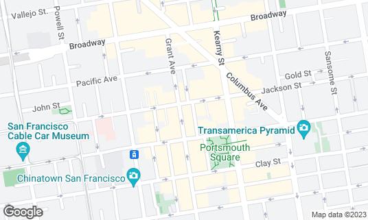 Map of Hong Kong Clay Pot Restaurant at 960 Grant Ave San Francisco, CA