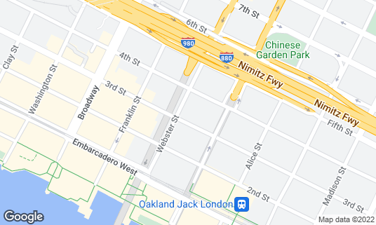 Map of Blue Bottle Coffee at 300 Webster St Oakland, CA