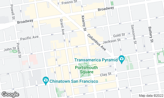 Map of Begoni Bistro at 615 Jackson St San Francisco, CA