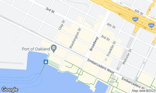 Map of Regal Cinemas Jack London 9 at 100 Washington St Oakland, CA