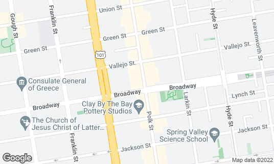 Map of Nick's Crispy Tacos at 1500 Broadway San Francisco, CA