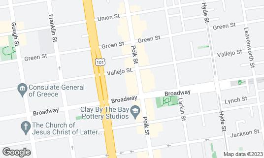 Map of Street at 2141 Polk St San Francisco, CA