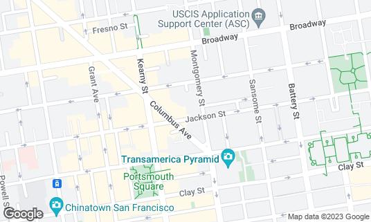 Map of Kells Irish Restaurant & Pub at 530 Jackson St San Francisco, CA