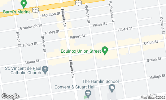 Map of The Brixton at 2140 Union St San Francisco, CA