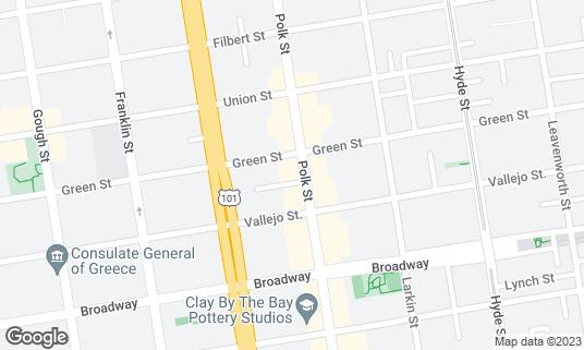 Map of Blue Barn at 2237 Polk St San Francisco, CA
