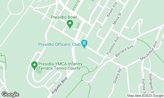 Map of Arguello at 50 Moraga Ave San Francisco, CA