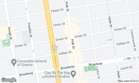Map of Green Sports Bar at 2239 Polk St San Francisco, CA