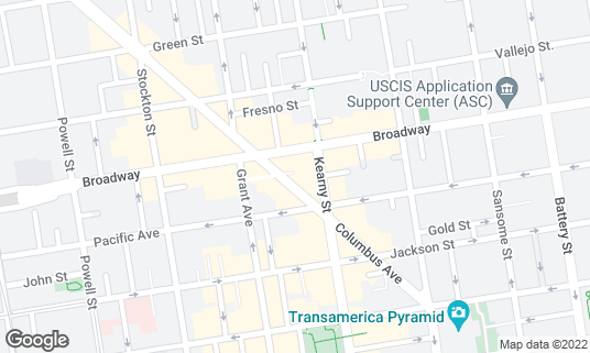Map of Tosca Cafe at 242 Columbus Ave San Francisco, CA