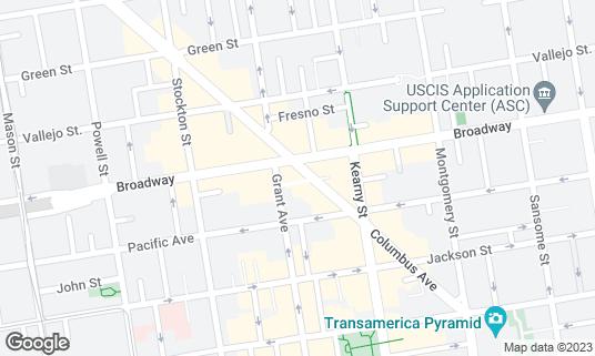 Map of City Lights at 261 Columbus Ave San Francisco, CA