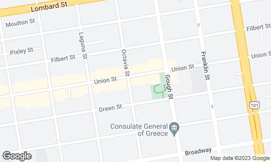 Map of The Brick Yard at 1787 Union St San Francisco, CA