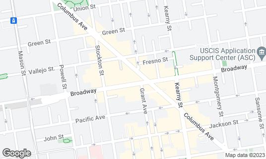 Map of Sam's at 618 Broadway San Francisco, CA