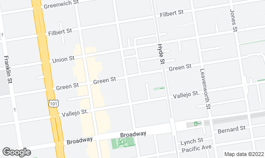 Map of Amarena Italian Restaurant at 2162 Larkin St San Francisco, CA