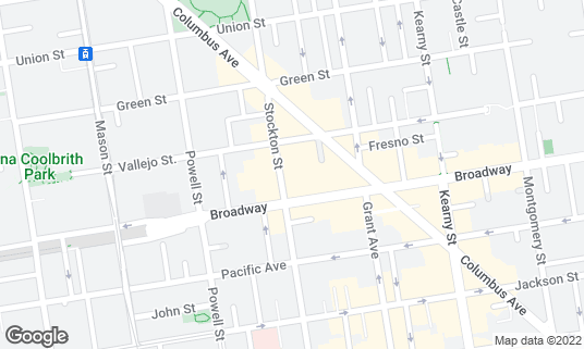 Map of Mee Mee Bakery at 1328 Stockton St San Francisco, CA