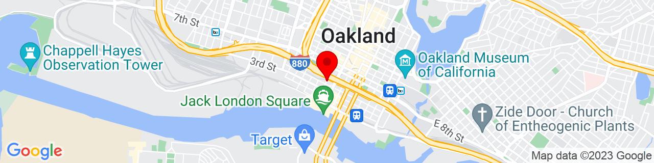 Google Map of 37.7982751, -122.2764986