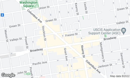 Map of Betty Lou's Seafood & Grill at 318 Columbus Ave San Francisco, CA