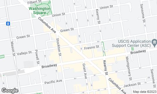 Map of Buster's at 366 Columbus Ave San Francisco, CA