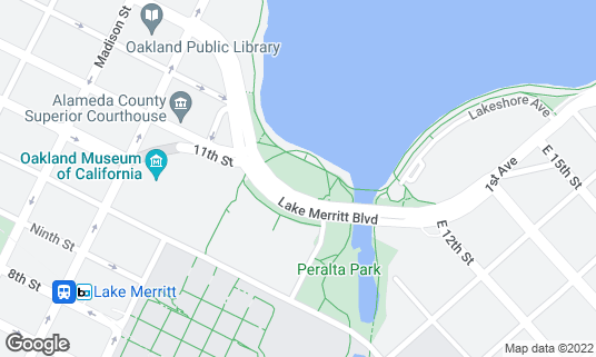 Map of Lake Merritt Amphitheater at Between 12th St and 1st Ave Oakland, CA