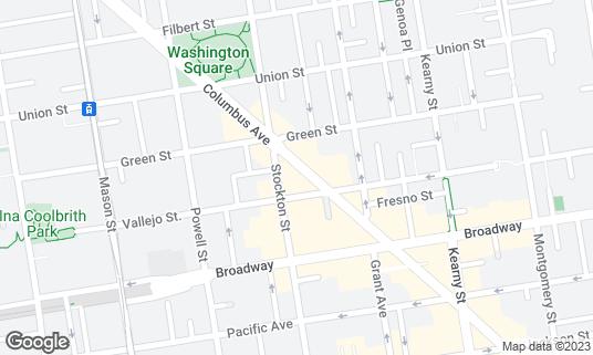 Map of Caffe Greco at 423 Columbus Ave San Francisco, CA