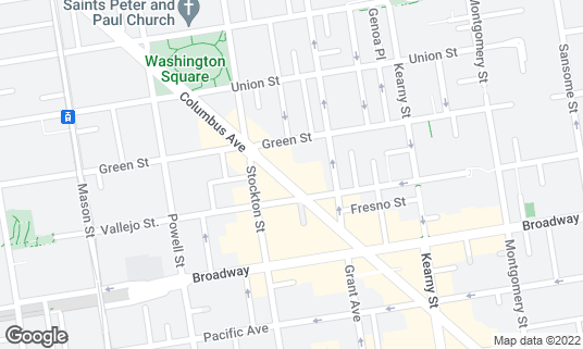 Map of Calzone's at 430 Columbus Ave San Francisco, CA