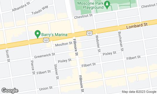 Map of Sabrosa at 3200 Fillmore St San Francisco, CA