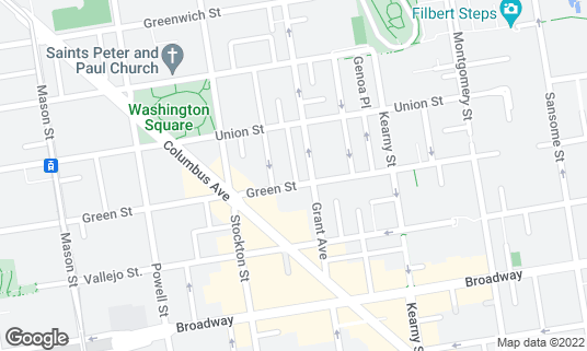Map of Baonecci Ristorante at 516 Green St San Francisco, CA