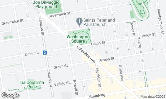 Map of BarNua at 561 Columbus Ave San Francisco, CA