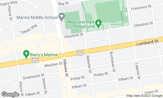 Map of Alegrias at 2018 Lombard St San Francisco, CA