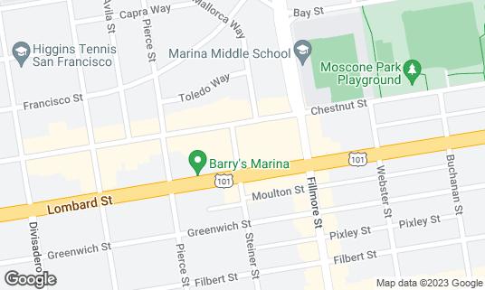 Map of Bistro Aix at 3340 Steiner St San Francisco, CA