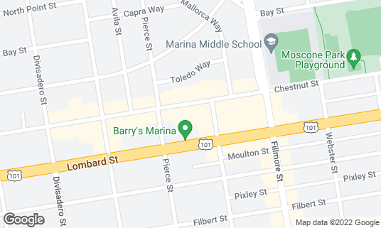 Map of Marina Theater at 2149 Chestnut St San Francisco, CA