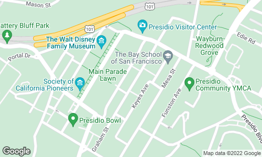 Map of Off the Grid: Picnic in The Presidio at 122 Anza Ave San Francisco, CA
