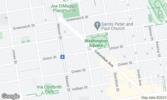 Map of Sushi Hunter at 1701 Powell St San Francisco, CA