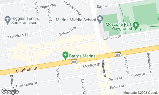 Map of Saiwalks at 3348 Steiner St San Francisco, CA