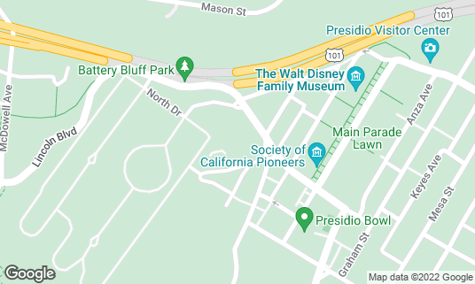 Map of Golden Gate Club at 135 Fisher Loop San Francisco, CA