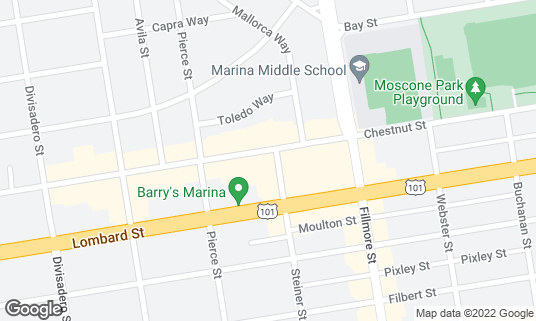 Map of Blue Barn at 2105 Chestnut St San Francisco, CA
