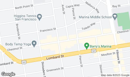 Map of Tacolicious at 2250 Chestnut St San Francisco, CA