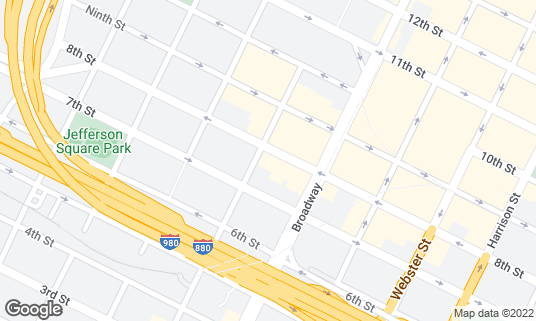 Map of Fort Green at 736 Washington St Oakland, CA
