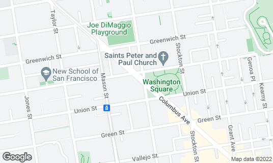 Map of Piazza Pellegrini at 659 Columbus Ave San Francisco, CA