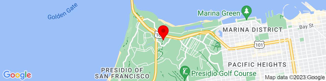 Google Map of 37.8010889, -122.4671008