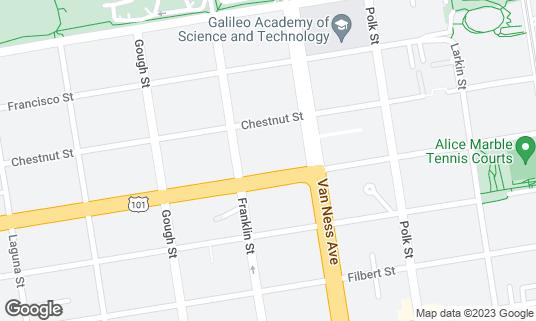 Map of Bobo's at 1450 Lombard St San Francisco, CA