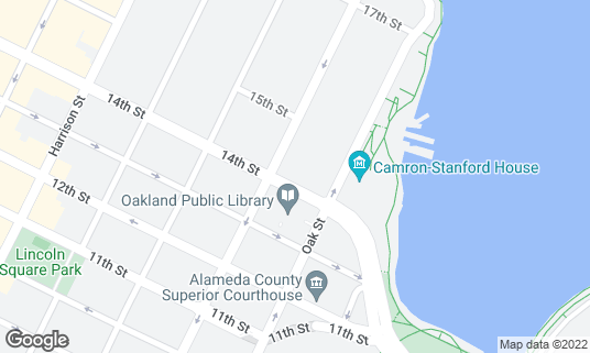 Map of The Ruby Room at 132 14th St Oakland, CA