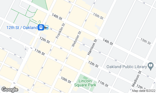 Map of Level 13 at 341 13th St Oakland, CA