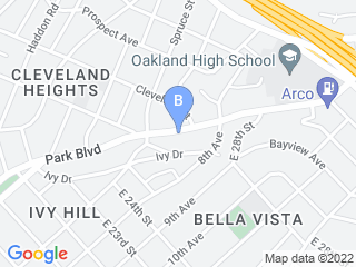 Map of Floppy Ears Pet Care Dog Boarding options in Oakland | Boarding