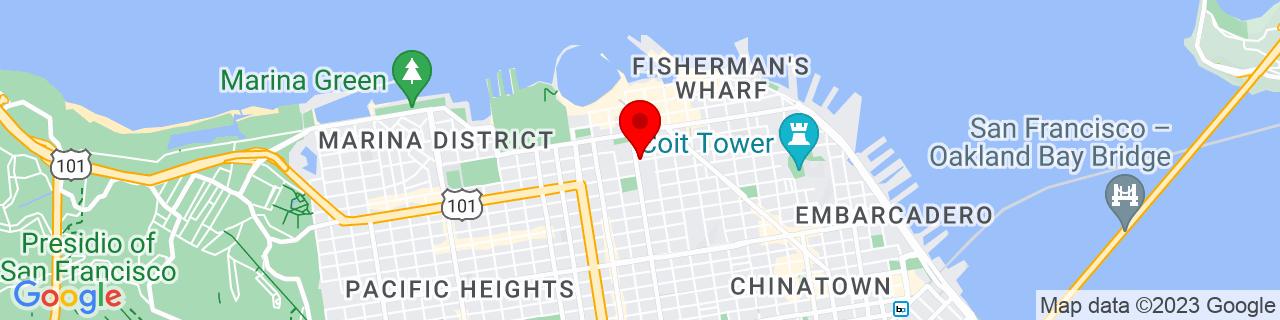 Google Map of 37.8030054, -122.4194896