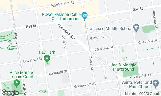 Map of Bimbo's 365 Club at 1025 Columbus Ave San Francisco, CA