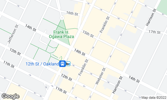 Map of Golden Bull at 412 14th St Oakland, CA