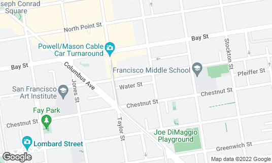 Map of Albona Ristorante Istriano at 545 Francisco St San Francisco, CA