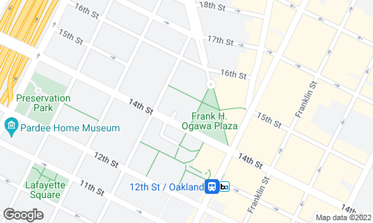 Map of Frank H Ogawa Plaza at 1 Frank H Ogawa Plz Oakland, CA