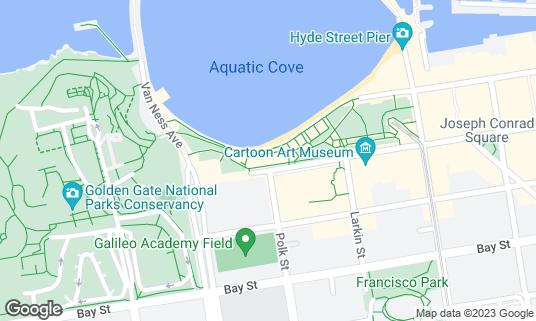 Map of Aquatic Park Bathhouse Building (Maritime Museum) at 900 Beach St San Francisco, CA